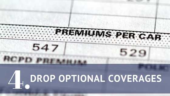 Drop optional coverages