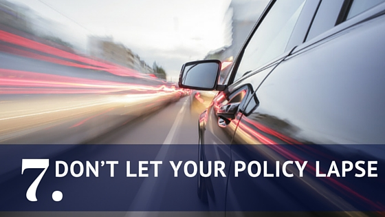Don't let your policy lapse